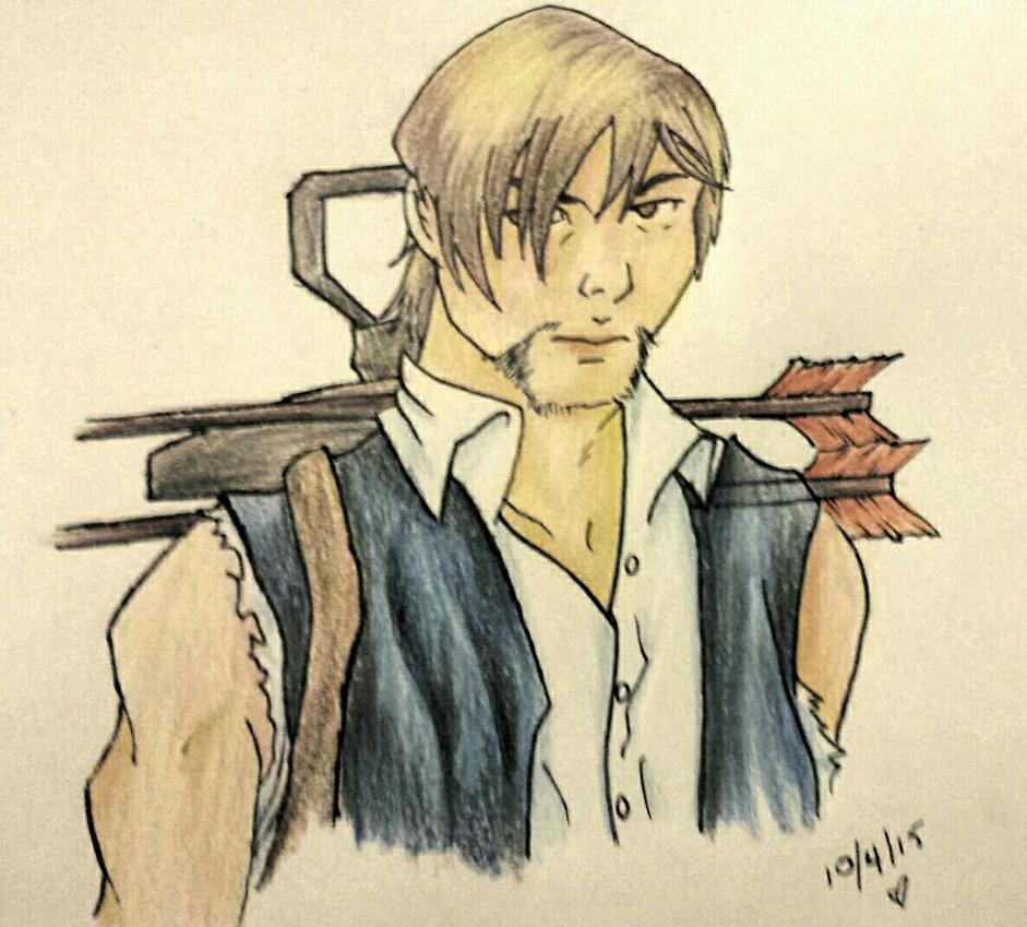 Daryl Dixon by blubunn