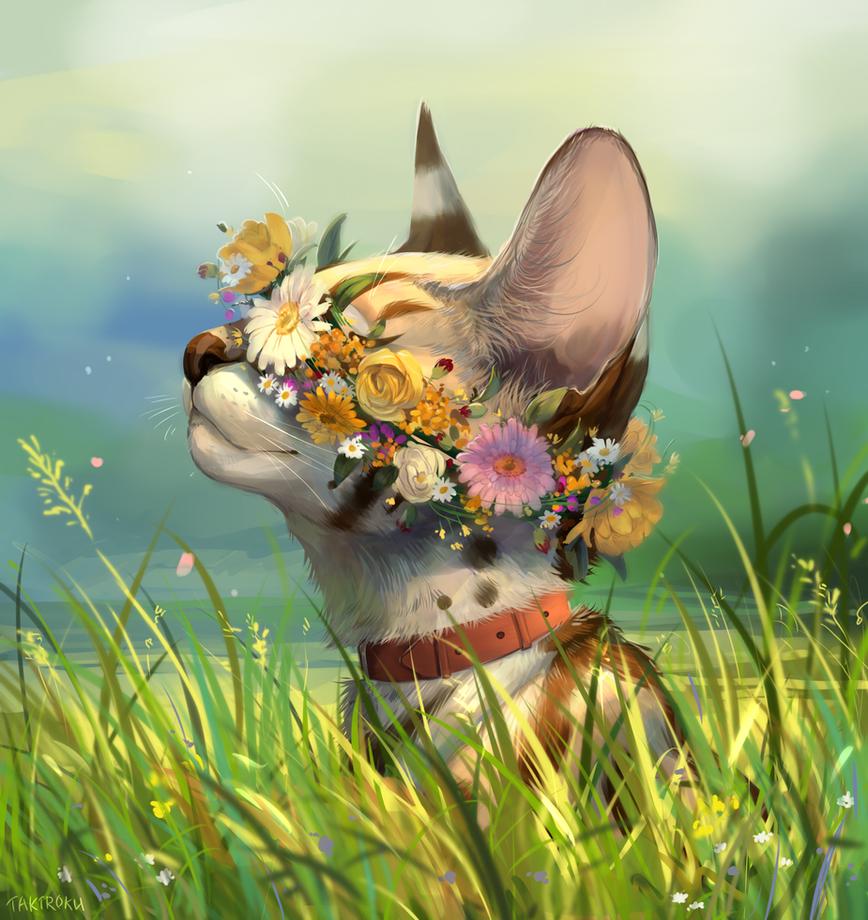 flower crown by Takiroku