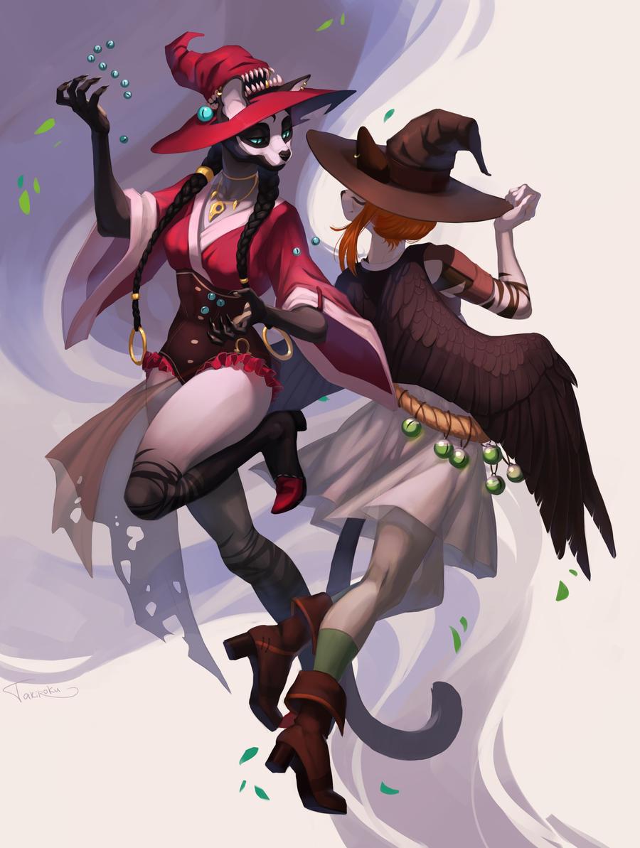 Demetra and Nishara by Takiroku