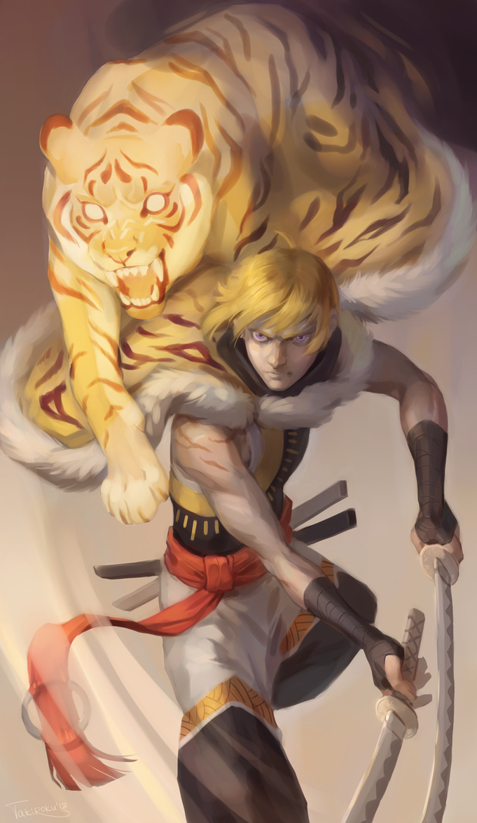 golden tiger by Takiroku