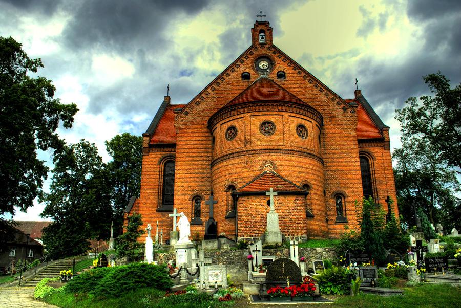 church in Drzycim by rybka91