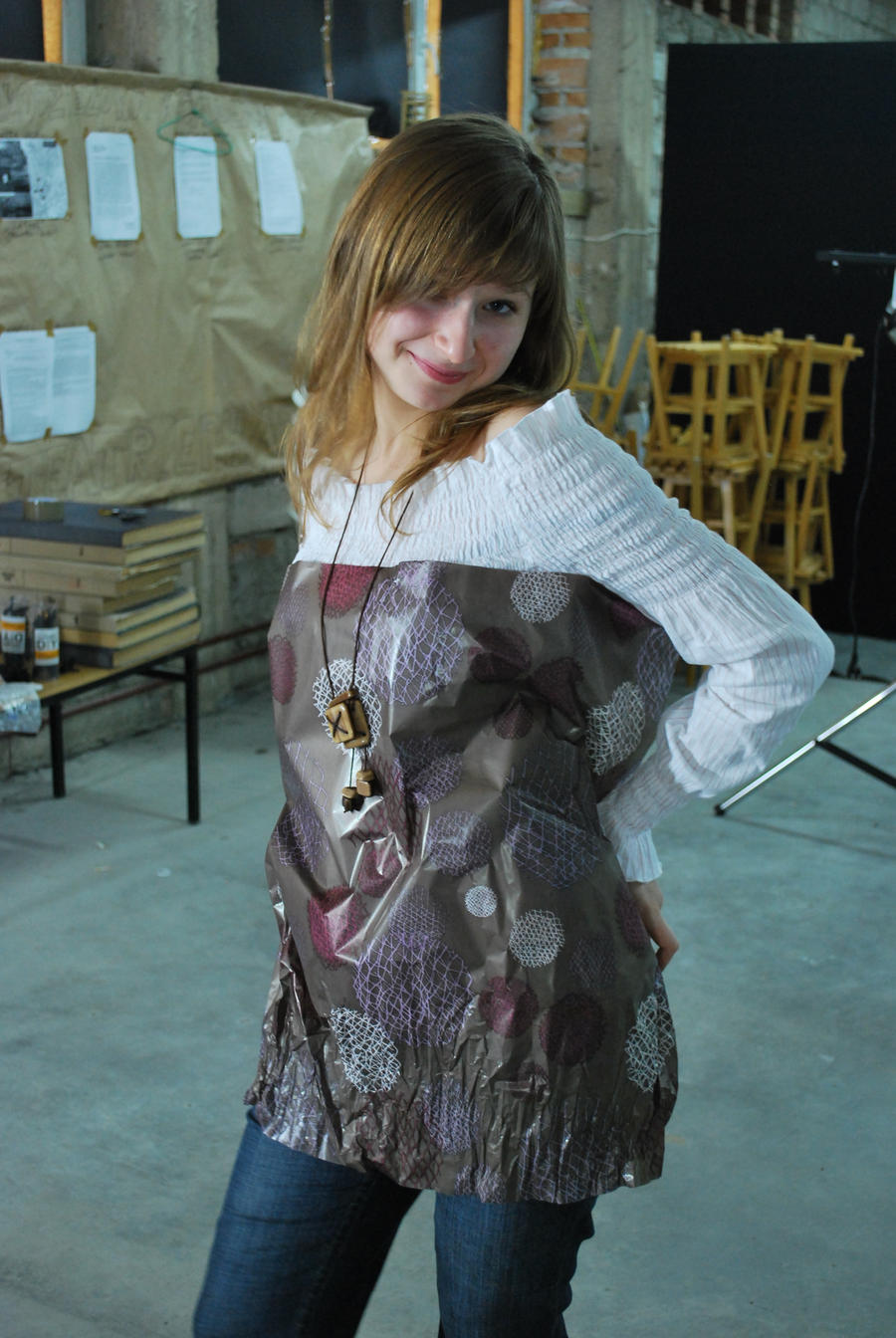 paper dress by rybka91