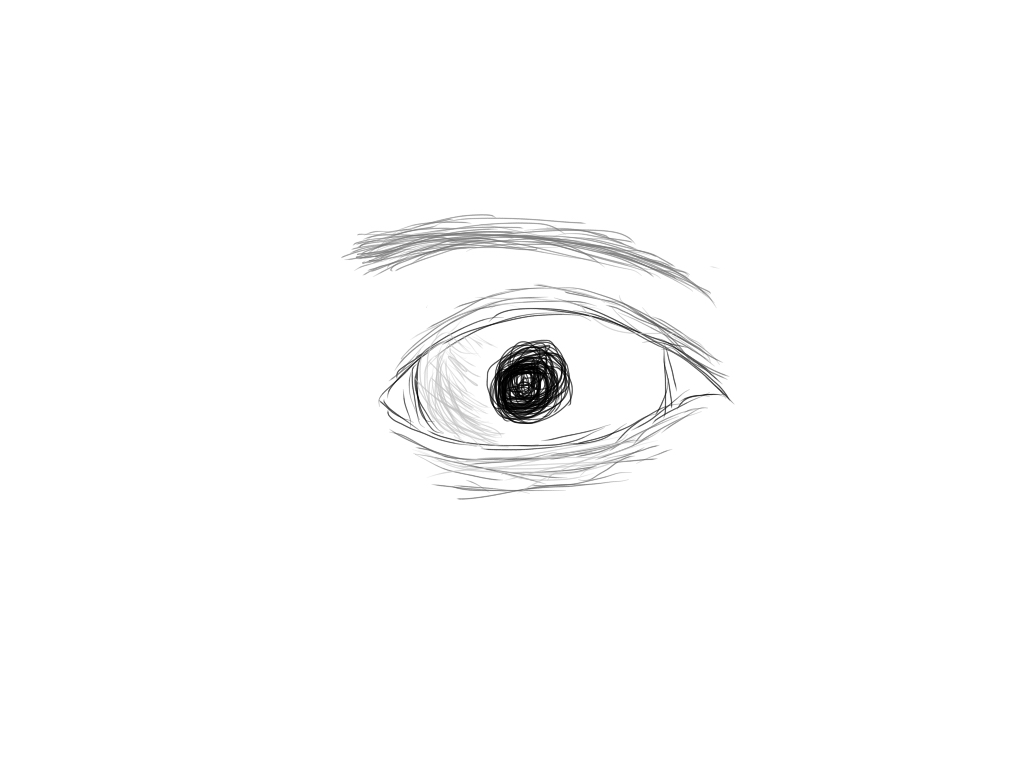 My first tablet drawn human eye! by AislinnsJOURNEY