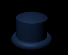 Blue Top Hat by RealAftonRobotics