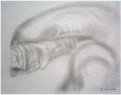 alien sketch by clonedmonkey