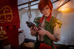 The Witcher 3 Shani cosplay (frame 15)