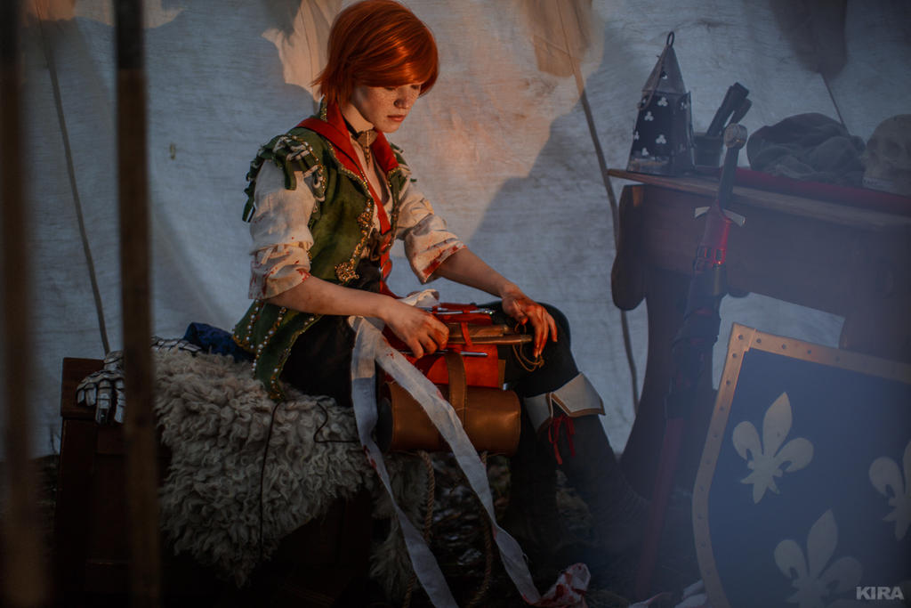 The Witcher 3 Shani cosplay (frame 22) by Lyumos