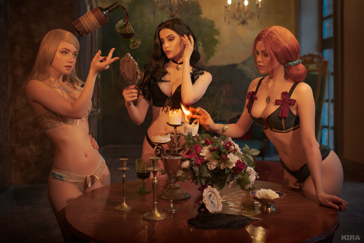 Sorceresses party (Witcher cosplay frame 1) by Lyumos