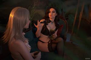 Sorceresses party (Witcher cosplay frame 3) by Lyumos