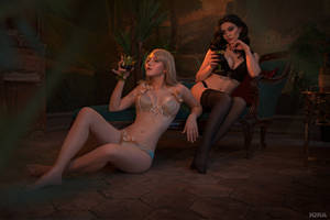 Sorceresses party (Witcher cosplay frame 4) by Lyumos