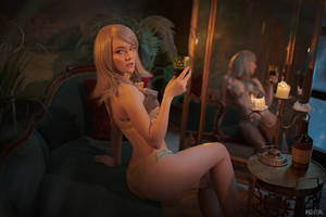 Sorceresses party (Witcher cosplay frame 5) by Lyumos