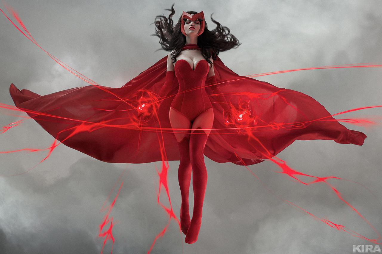 Scarlet Witch - Marvel comics by Lada Lyumos