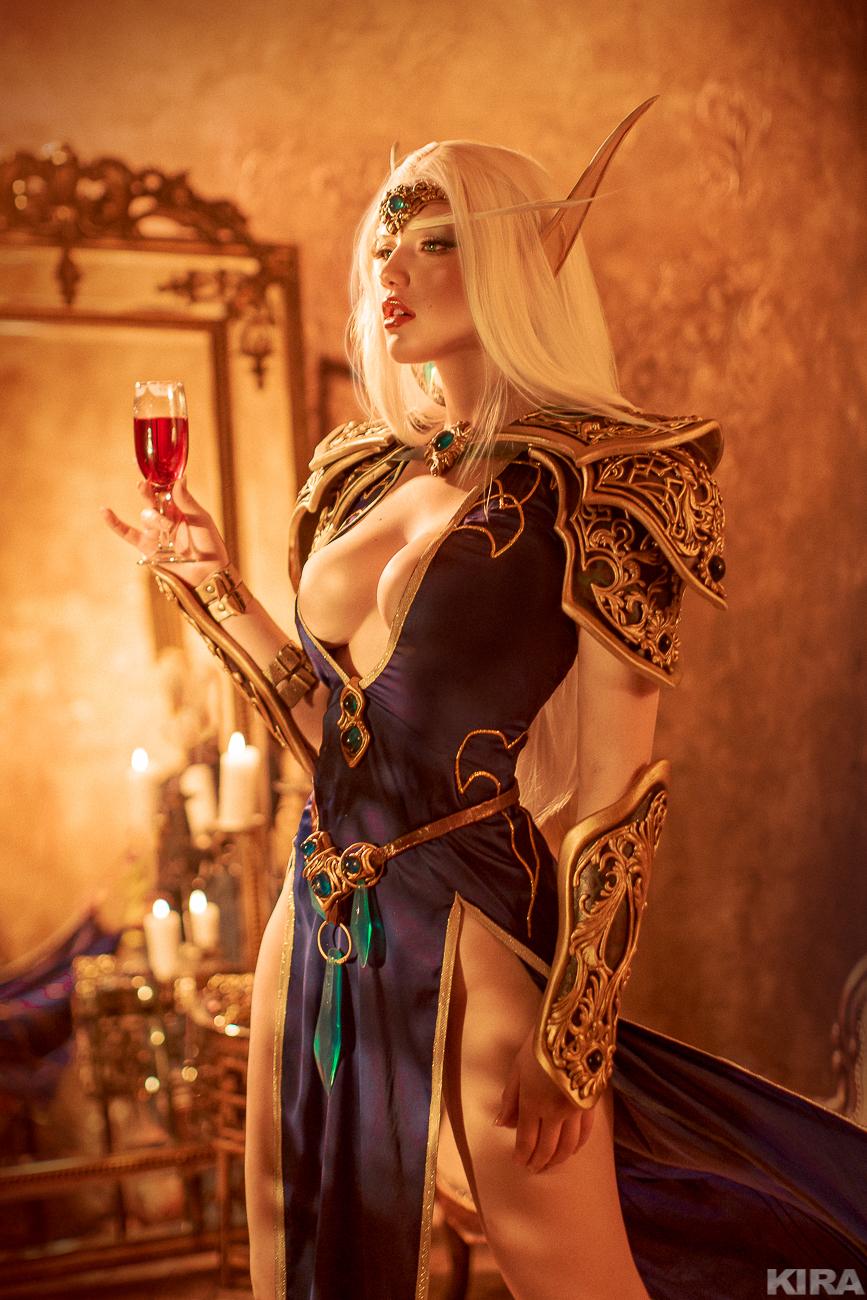 High Elf by Lada Lyumos   World of Warcraft
