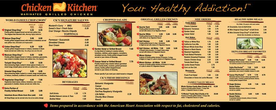Exceptionnel Chicken Kitchen Menu Board By LazNovak ...