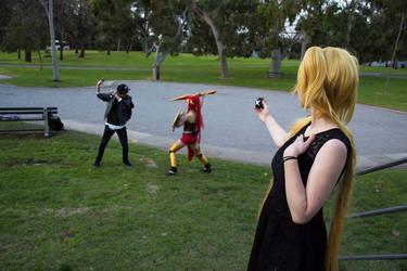 Hoshina, pyrrha and marcus by ShadowAngelxXx