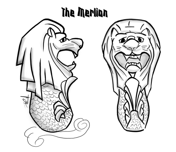 The gallery for --> Merlion Cartoon