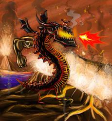 Deathwing the Burninator Color by WaLLYtheRabid