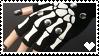 Gloves With Skeleton Bones  - Stamp by Creepper-Blue