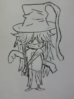 Undertaker Chibi Doodle by dragonholder411