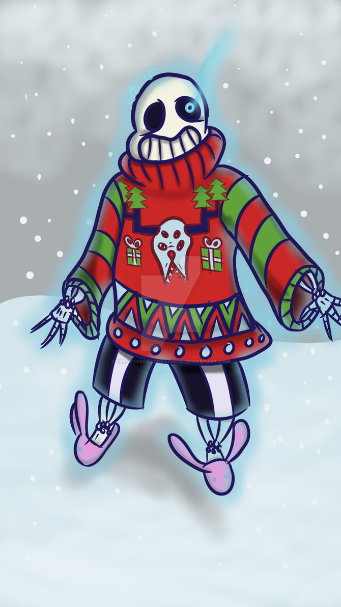Ugly Sweater Sans by dragonholder411