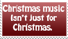 Christmas Music Stamp by lovelife99