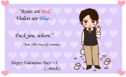 500 Days of Summer - Tom's V-Day Card! (swearing) by pyohappy