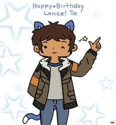 Lance - Birthday Cat by pyohappy