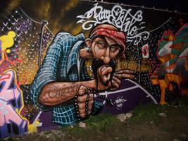 chicano graffiti by elbearone