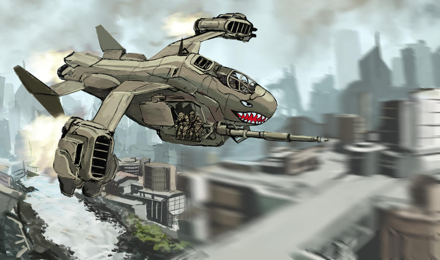 VTOL by TheDrowningEarth