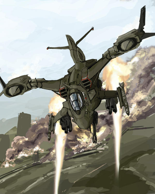 Gunship by TheDrowningEarth on DeviantArt