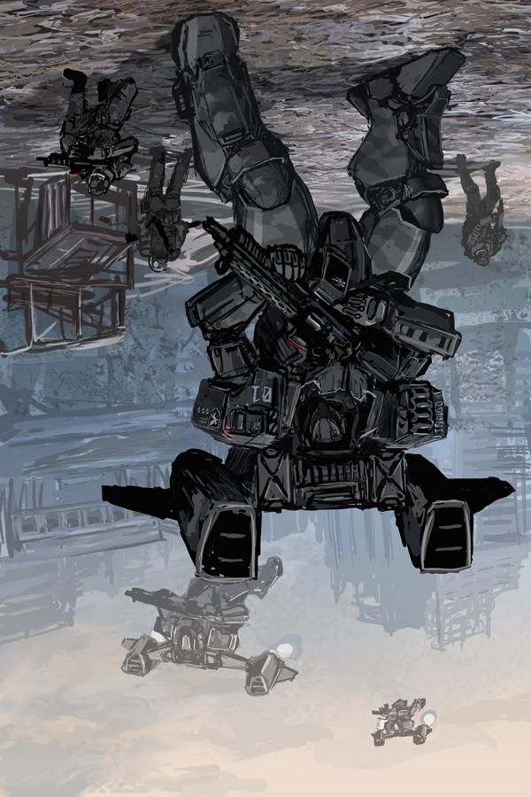 Airborne Battleframe by Kvlticon