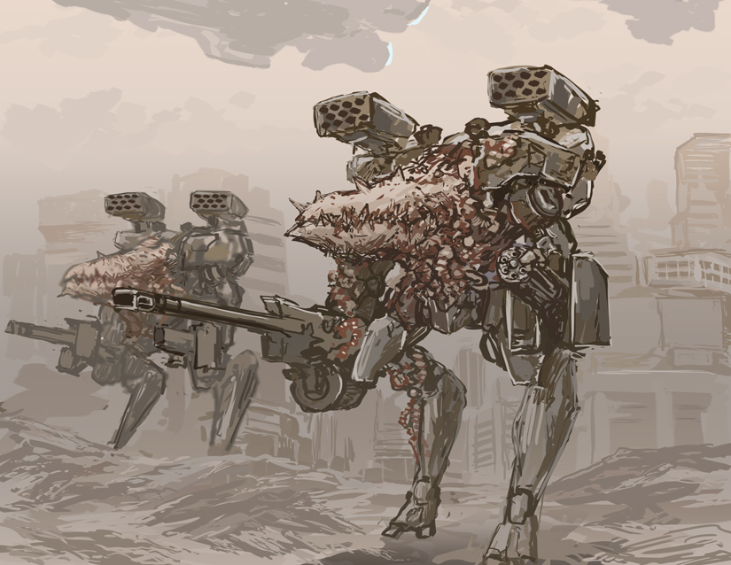 Abomination Heavy Gunwalker by TheDrowningEarth