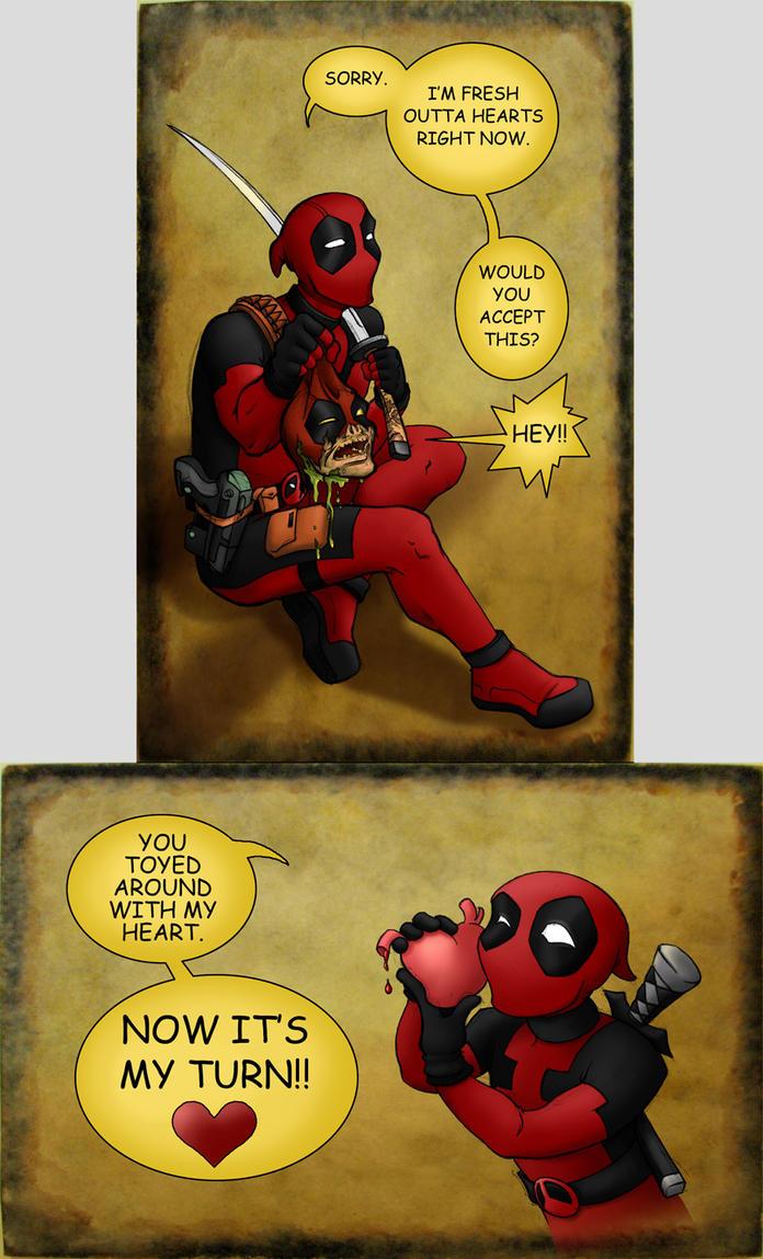 Deadpool's Valentine by hybridflowers