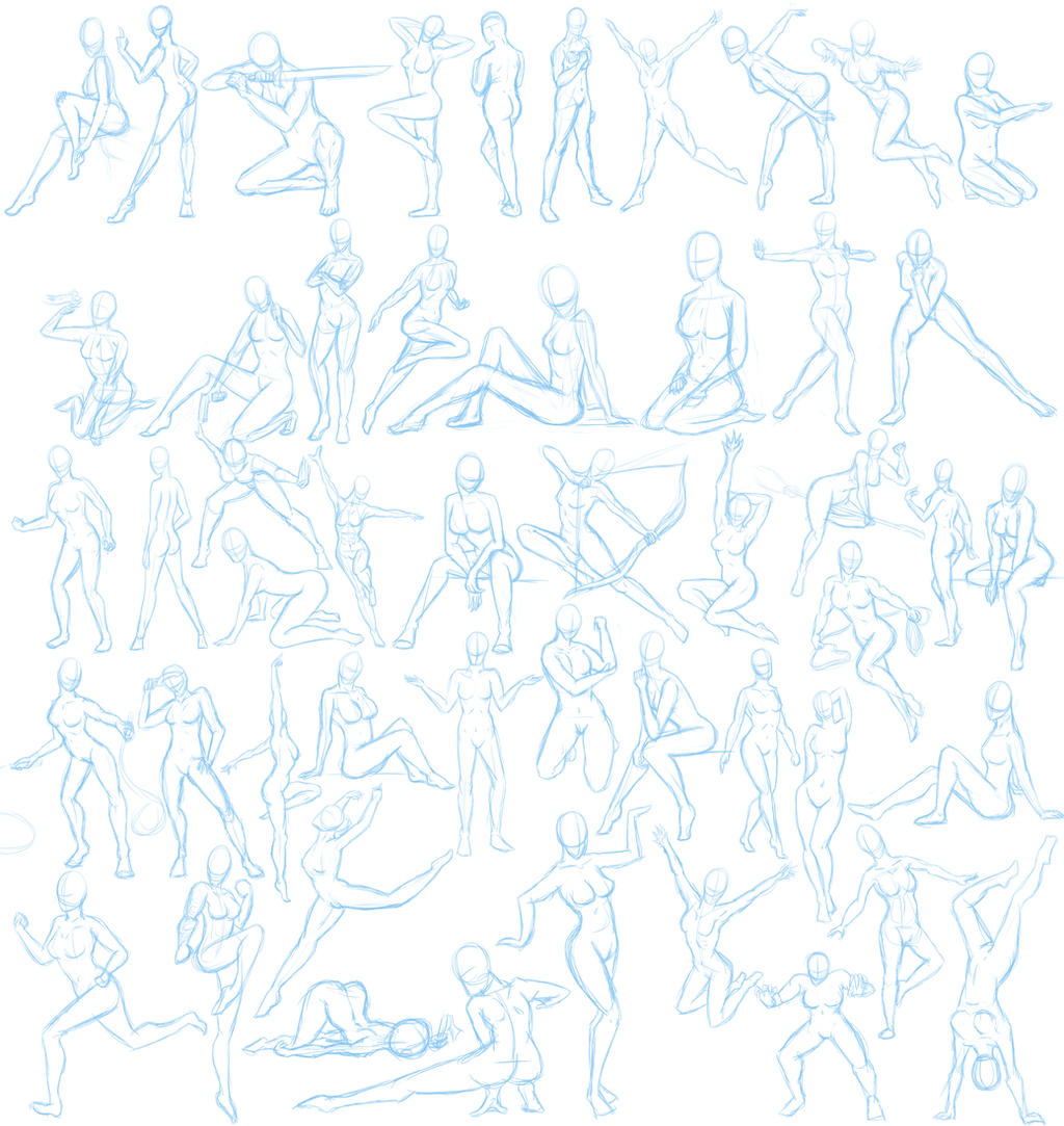 how to draw female poses nsfwe
