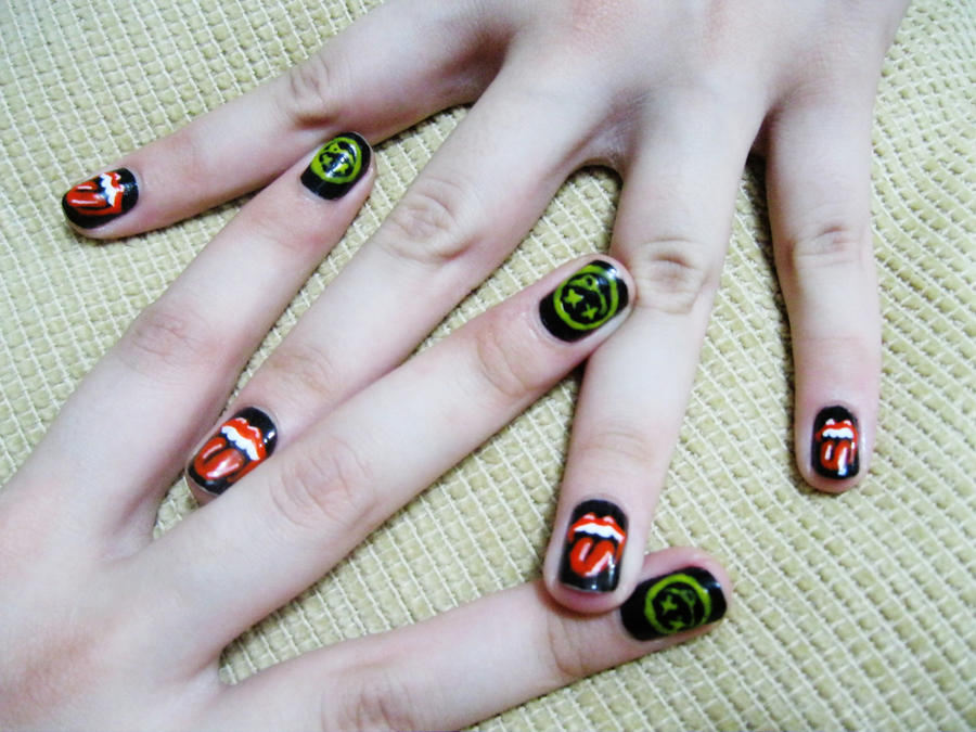 Classic rock nailart by natsy alencar on deviantart classic rock nailart by natsy alencar prinsesfo Images