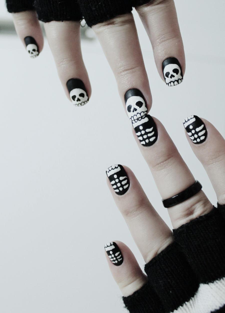 Matte Skull NailArt II by natsy-alencar