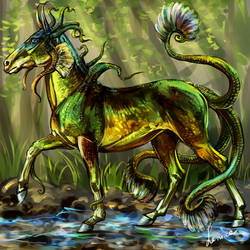Triton of the forest stream by Lenika86
