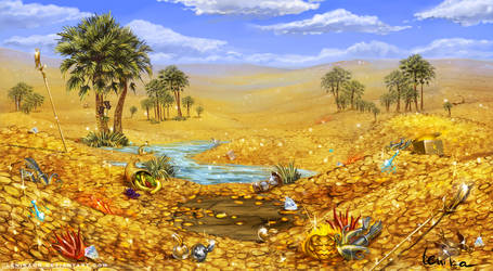 Gold oasis by Lenika86