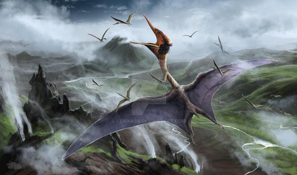 Quetzalcoatlus by Lenika86
