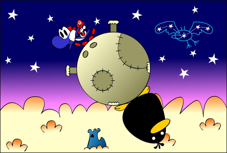 Yoshi vs Raphael the Raven by Guuguuguu