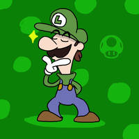 Super Smash Bros 014-Luigi by Guuguuguu