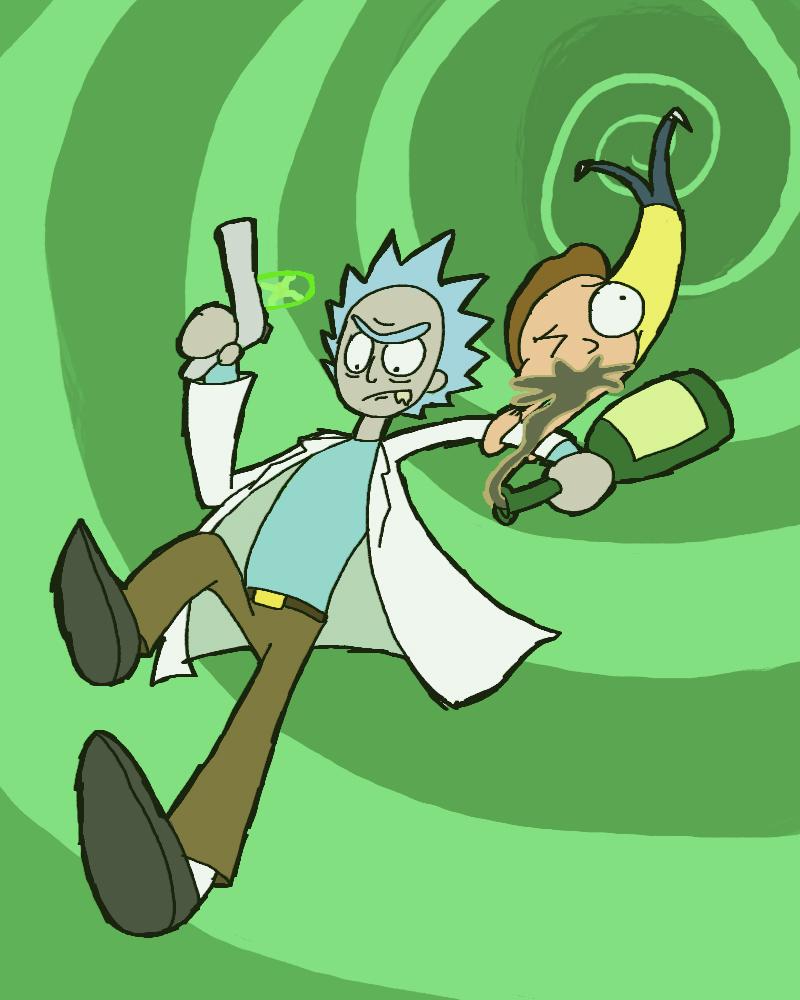 Rick and Morty by Guuguuguu