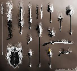 Daynight Weapons Set - Guild Wars 2 Fan Art by SkavenZverov