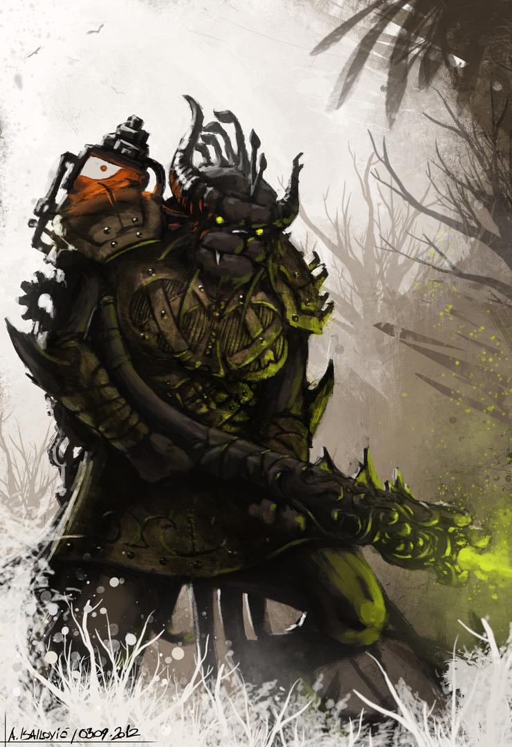Charr Engineer - Guild Wars 2 Fan Art Speedpaint by SkavenZverov