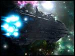 Laothan, Human Spaceship - Project Antharra by SkavenZverov