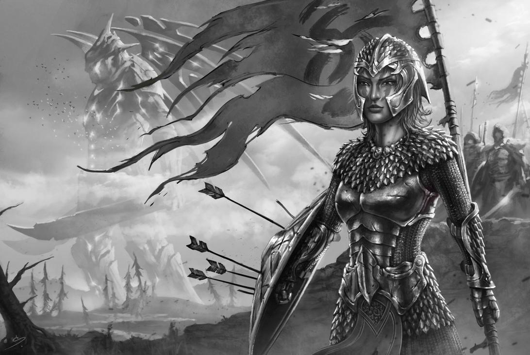 Nadia - Female Warrior by SkavenZverov