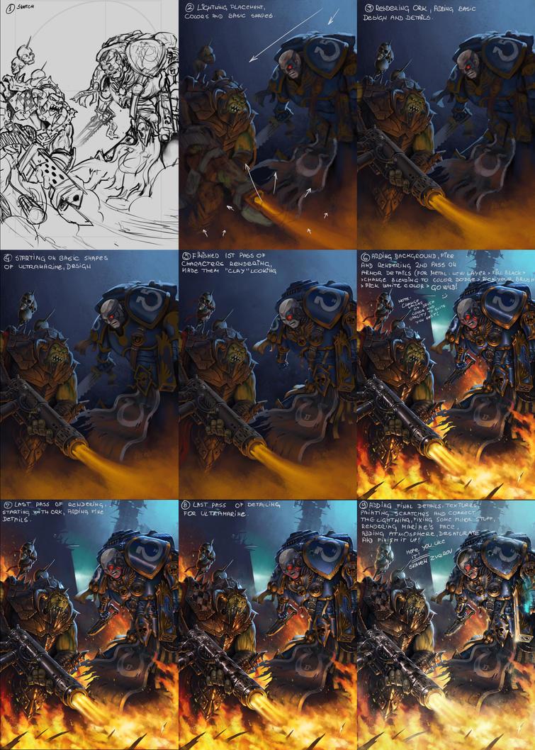 Ork vs Ultramarine Walkthrough by SkavenZverov