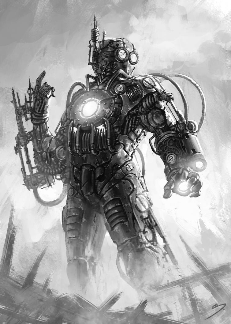 Drawing Steam Iron ~ Steampunk ironman by skavenzverov on deviantart