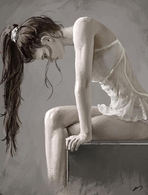 Study - Girl by SkavenZverov