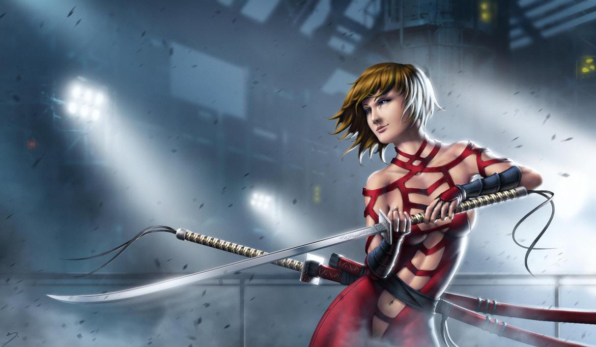 Tania - Samurai Girl by SkavenZverov
